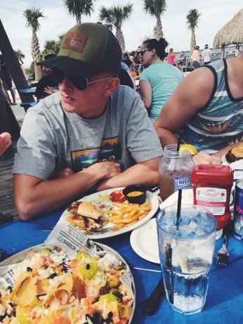 Seafood Nachos & Diesel Fuel at Flounders